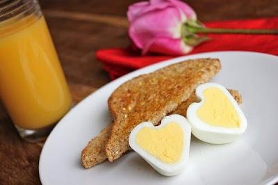 Hjerteformede æg