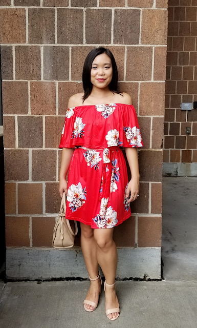 OOTD Off the Shoulder Floral Dress
