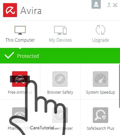 Open avira free antivirus