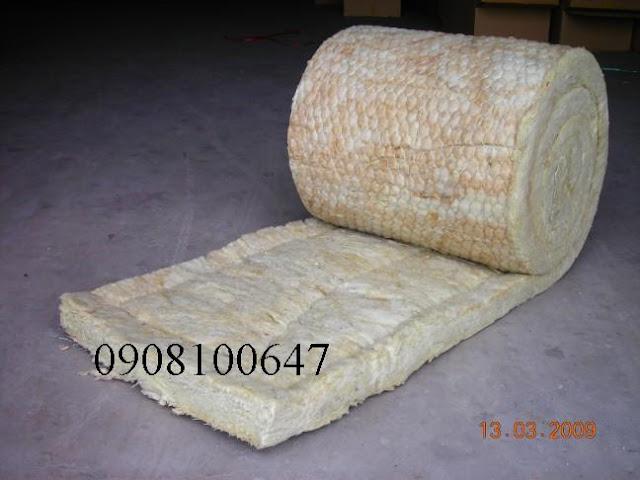 Bông khoáng dạng cuộn có lưới