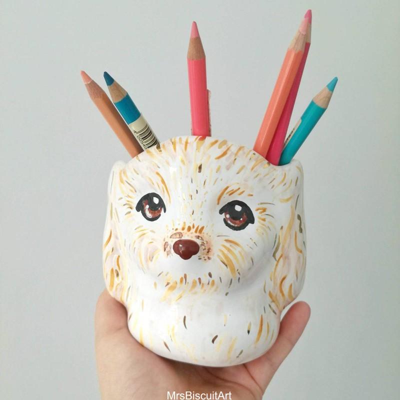 Bichinhos de cerãmica feitos e pintados à mão