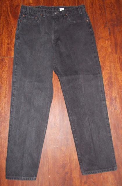 Men's Vintage Levi's 550 Relaxed Fit Denim Black Jeans