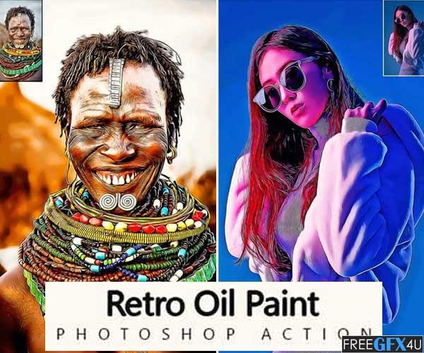 Retro Oil Paint Photoshop Action