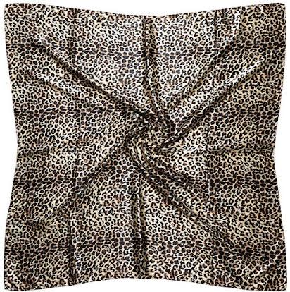 Leopard Animal Print Satin Scarves