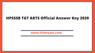 HPSSSB TGT ARTS Official Answer Key 2020