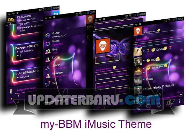 download BBM Mod Tema Neon Style Color Apk Terbaru Paling Popular