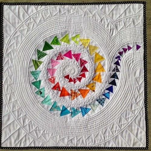 Spiral Geese Mini Quilt - Tutorial