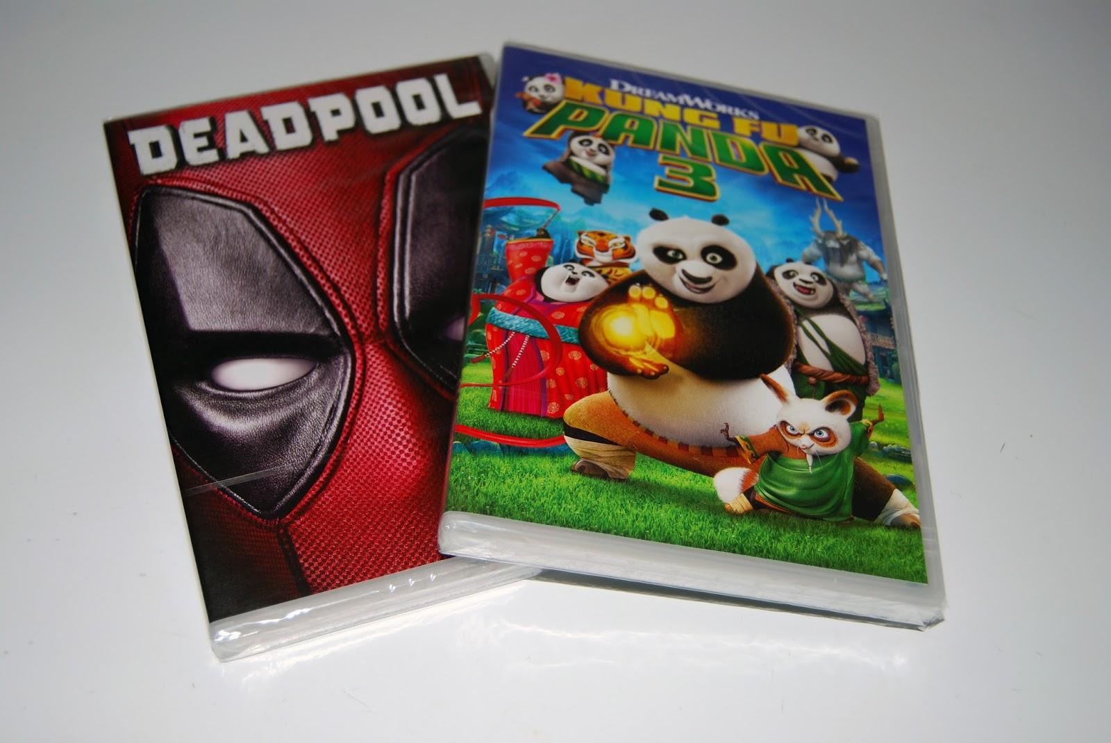 DVD de 'Kung Fu panda 3' y 'Deadpool'