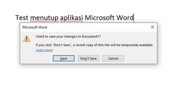 Cara Menutup Aplikasi Microsoft Word, Microsoft Excel, dan Microsoft PowerPoint