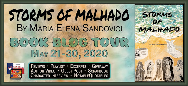 Storms of Malhado book blog tour promotion banner