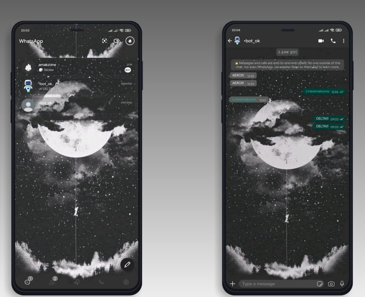 Night Mod Moon Theme For YOWhatsApp & Delta WhatsApp By Amakzone ...