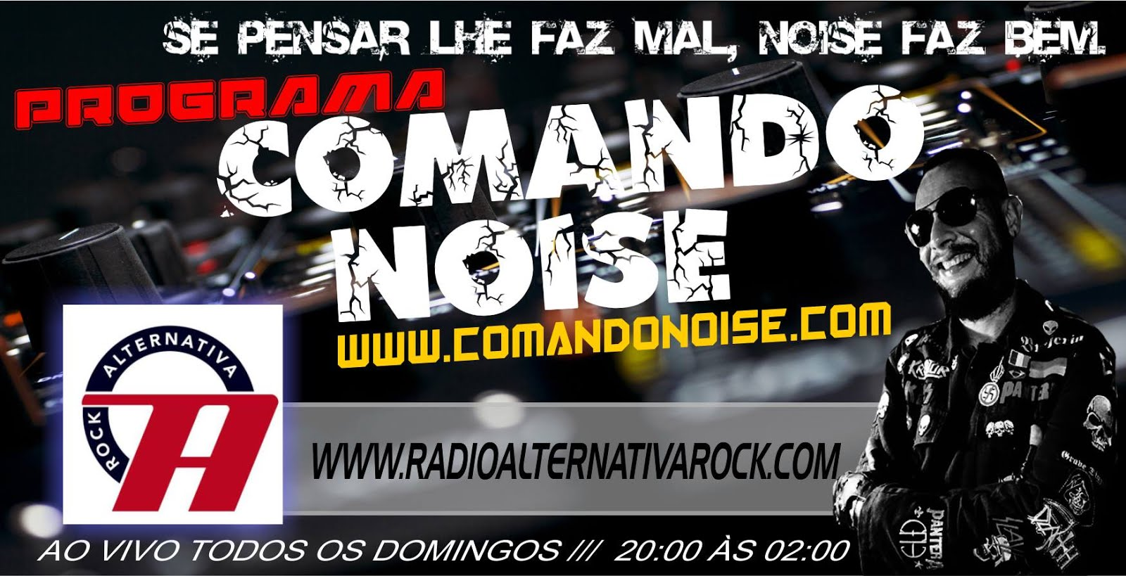 COMANDO NOISE NA WEB RÁDIO ALTERNATIVA ROCK