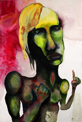 The Gentle Thinker, pintura de Marilyn Manson.