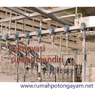 Rumah Potong Ayam dengan Conveyor T-Track