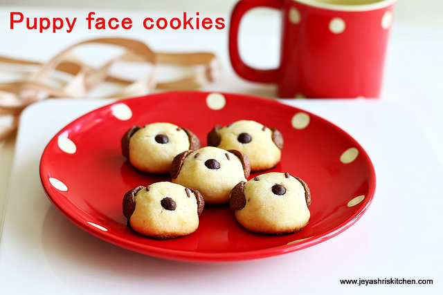 Puppy face cookies
