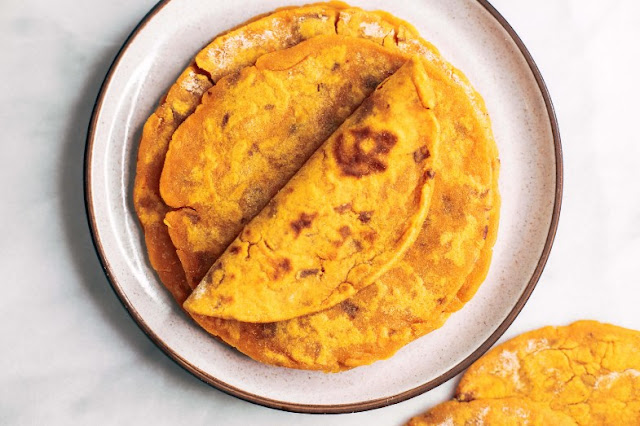 Two Ingredient Sweet Potato Tortillas #vegetarian #healthy