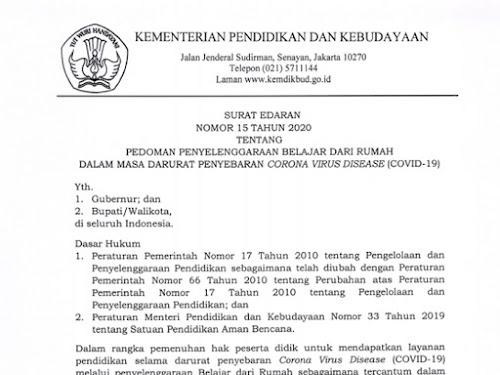surat edaran no 15 tahun 2020