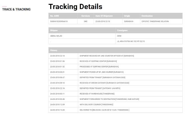 Cara Melacak Nomor Resi Pengiriman di Website JNE (Tracking)
