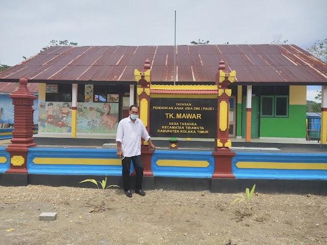 Gunakan Dana Desa Made Winada, Bangun Pagar PAUD, Desain Ala Bali