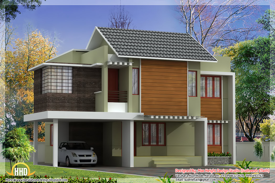 3 awesome indian home elevations kerala home design and for Second floor house plans indian pattern