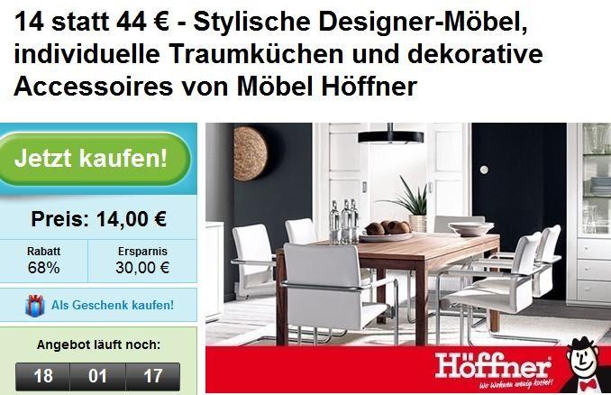 kauffuchs die welt der schn ppchen groupon 44 euro gutschein f r m bel h ffner zum preis von. Black Bedroom Furniture Sets. Home Design Ideas