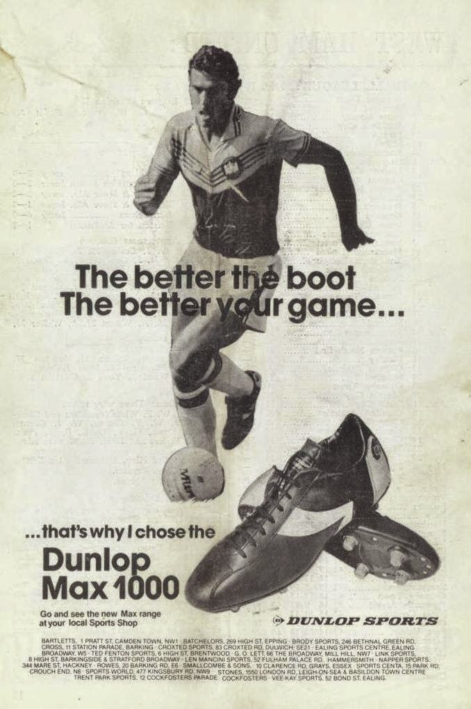 15dbc14f590a Dunlop football boots. Sir Trev supposedly wore these so they must be magic  :)