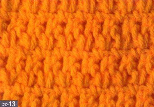 Patrón 1032 Punto Tupido a Crochet