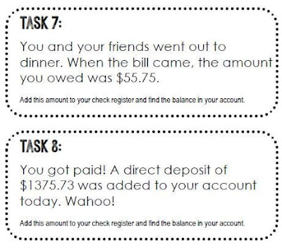Knowin ghow to balance a checkbook is an important skill. Here is a set of check book task cards to practice.