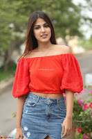 Rhea Chakraborty in Red Crop Top and Denim Shorts Spicy Pics ~  Exclusive 257.JPG