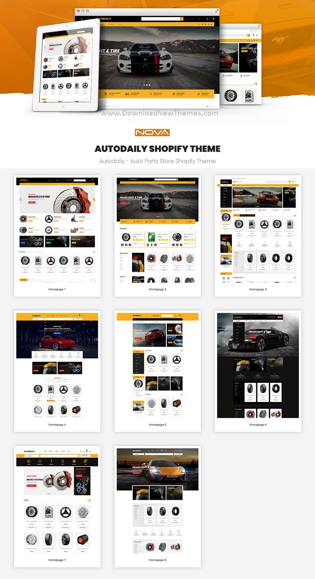 Auto Parts & Car Accessories Store Shopify Theme