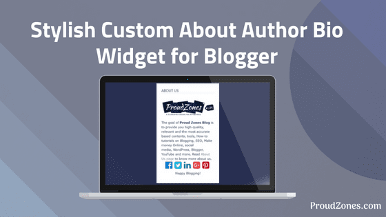 Custom about  author widget