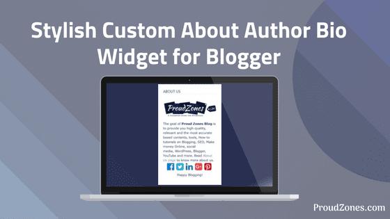 Custom about  author widget