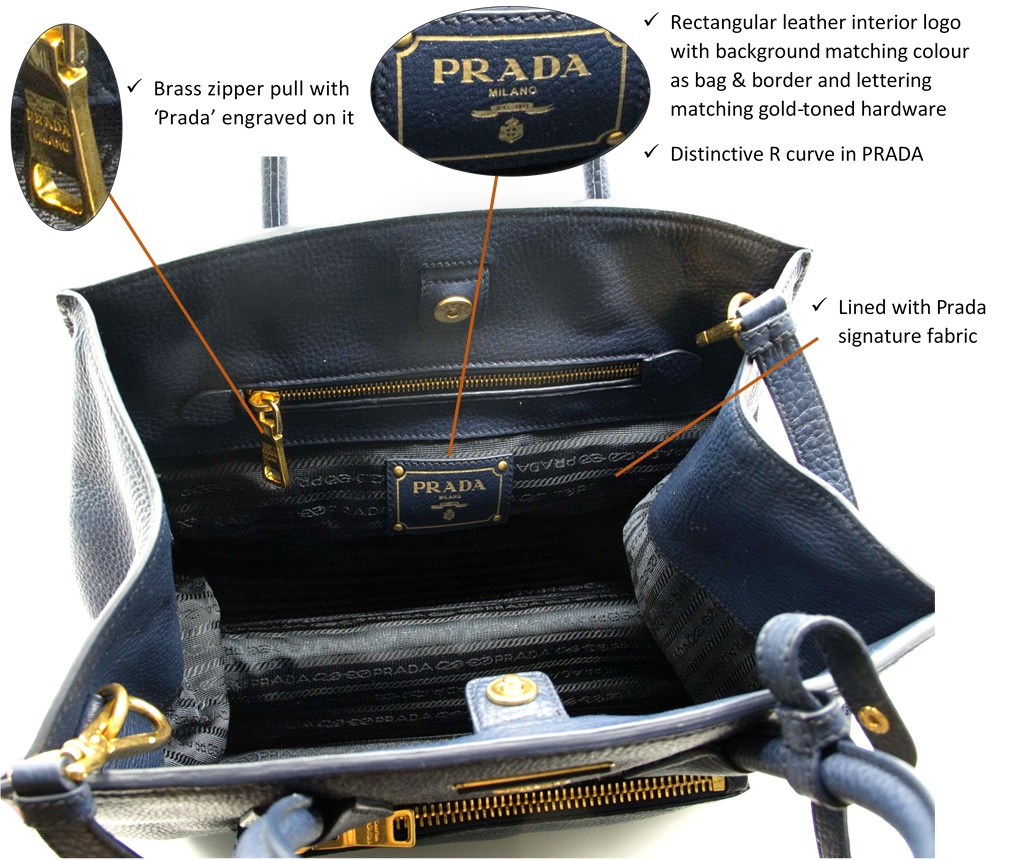 347661fcbf3 #7 Numbered tag: Prada bags typically have a white numerical tag sewn into  the inner pocket.