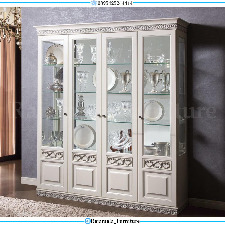 New Lemari Hias Kaca Luxury Carving Furniture Jepara Terbaru RM-0177