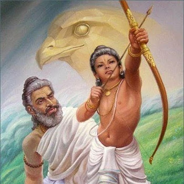 Parshurama teaching karna bhargavastra