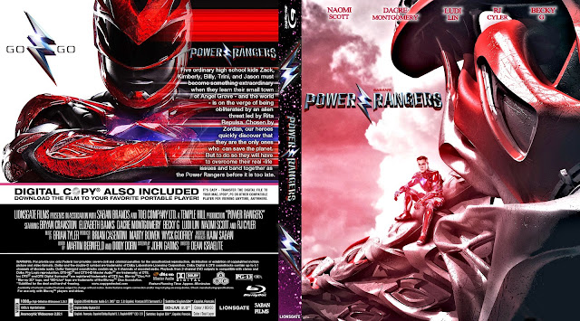Capa Bluray Power Rangers
