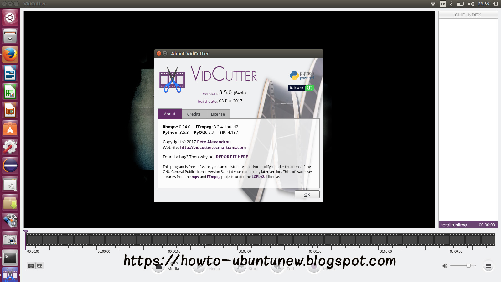 How to install program on Ubuntu: How to install VidCutter