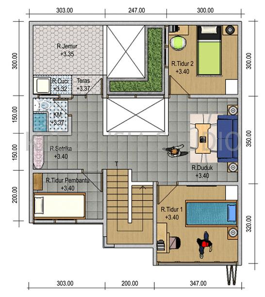 desain denah rumah minimalis 3 kamar berbagai interior