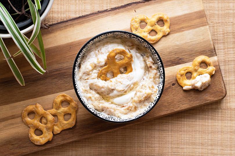 recette Dip oignon et crème
