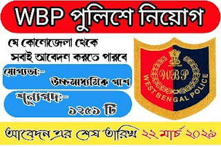West Bengal Police, West Bengal Police Recruitment Board (WBPRB)