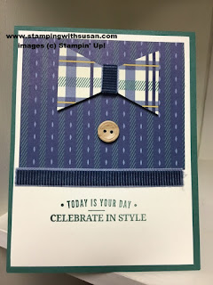 Stampin' Up! True Gentleman Suite Everyday label punch Truly Tailored