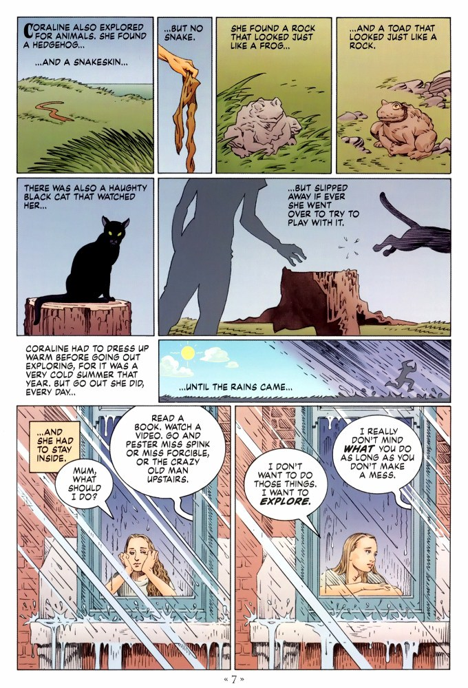 Read page 7, from Nail Gaiman and P. Craig Russell's Coraline graphic novel
