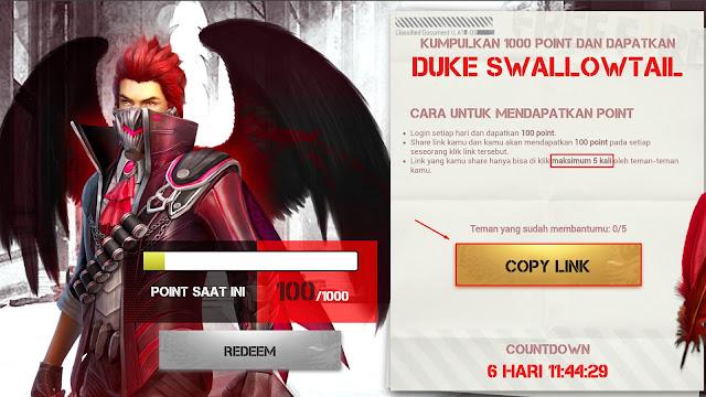 Cara Bermain Event Rebel Sharing Free Fire Hadiah Bundle Duke Swallowtail Gratis