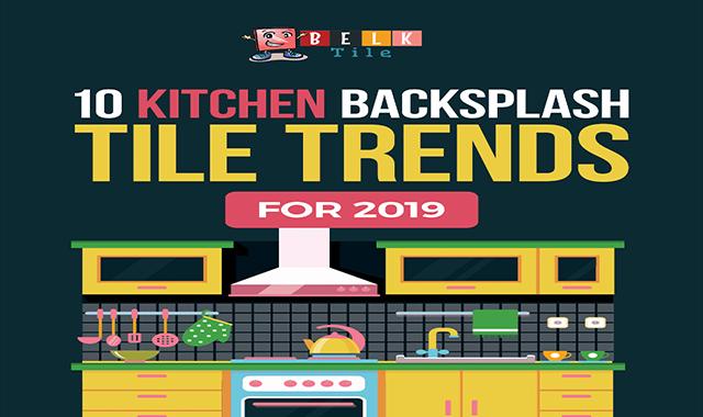 10 Trends in Kitchen Backsplash Tile #infographic