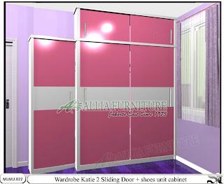 Lemari minimalis sliding cabinet unit Katie