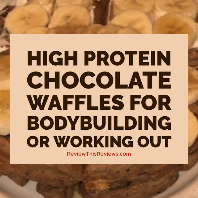 High protein chocolate waffles