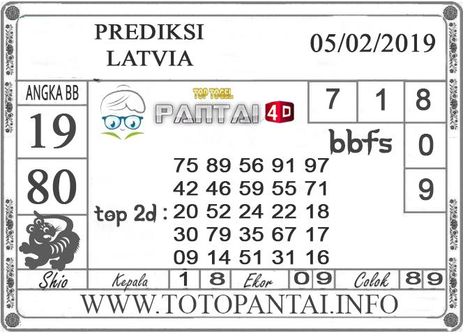 """Prediksi Togel """"LATVIA"""" PANTAI4D 05 FEBRUARI 2019"""