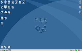 muestra de como se ve el escritorio de puppy linux