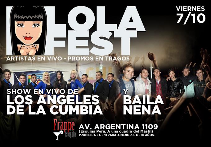 Flyer para el Lola Fest