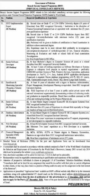 Benazir-Income-Support-Programme-BISP-Jobs-2020-Latest Advertisement-Apply-Online